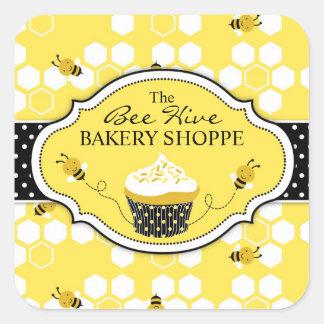 Manosee al pegatina SQBIZ de la abeja
