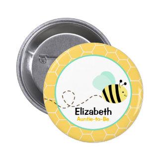 Manosee el botón de la abeja pins