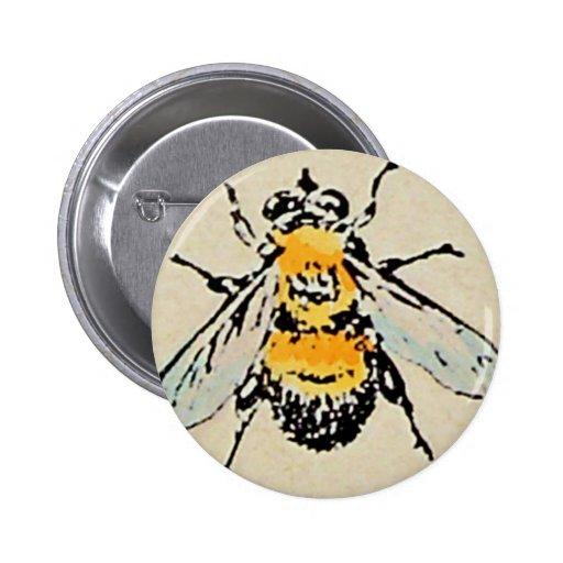 Manosee el botón de la abeja pin redondo de 2 pulgadas