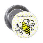 Manosee el botón de la abuela de la abeja pins