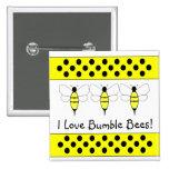 Manosee el botón del personalizable de la abeja pins