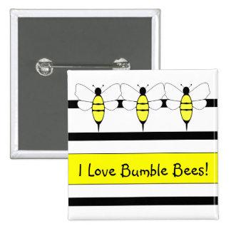 Manosee el botón del personalizable de la abeja