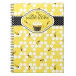Manosee el cuaderno del negocio de la abeja