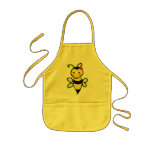 Manosee el delantal de la abeja