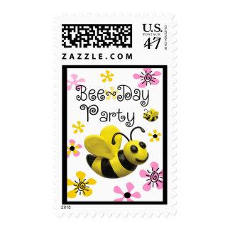 Manosee el fiesta de la abeja timbre postal
