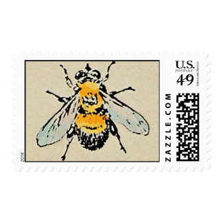 Manosee el franqueo de la abeja