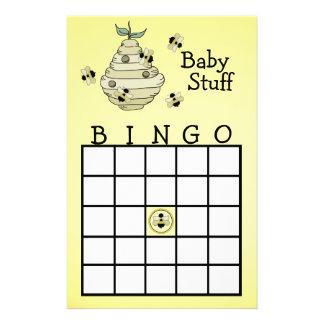 Manosee el juego de sociedad del bingo de la abeja papelería personalizada