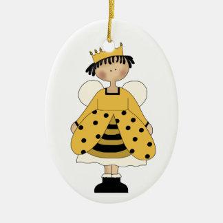 Manosee el ornamento de la princesa de la abeja ornamente de reyes