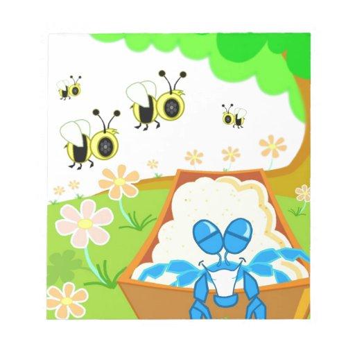 Manosee el parque de la abeja bloc de papel