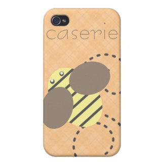 Manosee el personalizado de la abeja iPhone 4 funda