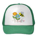 Manosee la abeja con amor de la abeja de las flore gorro