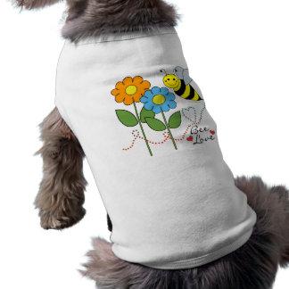 Manosee la abeja con amor de la abeja de las playera sin mangas para perro