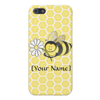 Manosee la abeja con la margarita iPhone 5 carcasa