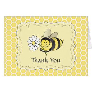 Manosee la abeja le agradecen observar tarjeta pequeña