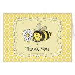 Manosee la abeja le agradecen observar tarjetas