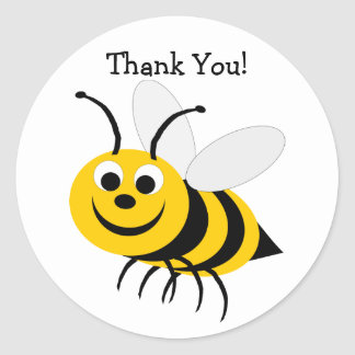 Manosee la abeja le agradecen pegatina