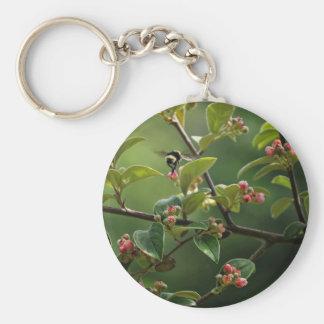 Manosee la abeja llavero redondo tipo pin