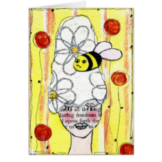 Manosee la abeja Notecard Tarjeta Pequeña