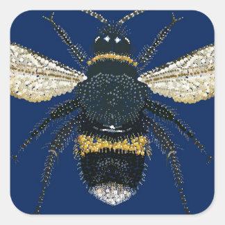 Manosee la abeja calcomanía cuadradas personalizadas
