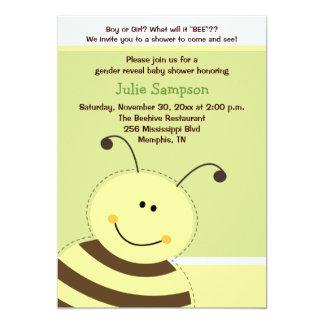 """Manosee la abeja que el género revela la fiesta de invitación 5"""" x 7"""""""