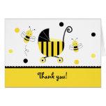 Manosee la abeja que la fiesta de bienvenida al be tarjetón