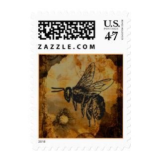Manosee la abeja sello postal