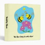 Manosee la carpeta del álbum del boda de la abeja