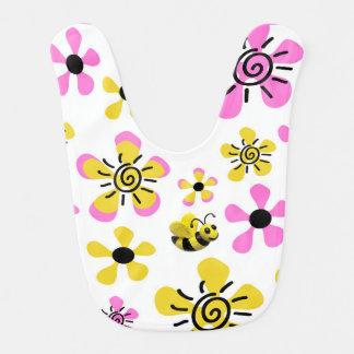 Manosee la ducha de la niña de la abeja baberos de bebé