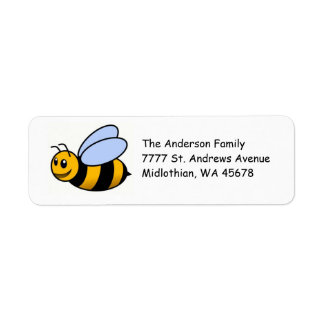 Manosee la etiqueta de Avery del remite de la abej Etiquetas De Remite