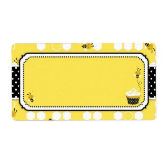 Manosee la etiqueta del nombre de la abeja etiqueta de envío