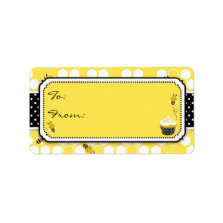 Manosee la etiqueta M del regalo de la abeja Etiqueta De Dirección