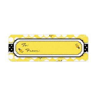 Manosee la etiqueta S del regalo de la abeja Etiqueta De Remite