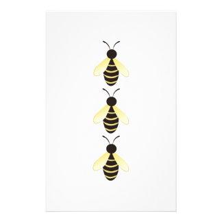 Manosee la frontera de la abeja papelería de diseño