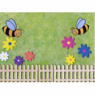 Manosee la imagen derecha de la abeja fotoescultura vertical