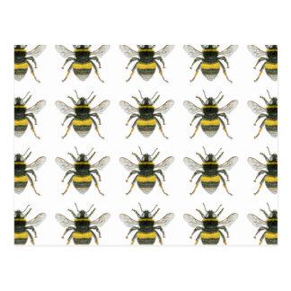 Manosee la postal del modelo de la abeja