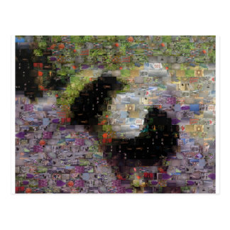 Manosee la postal del mosaico de la abeja
