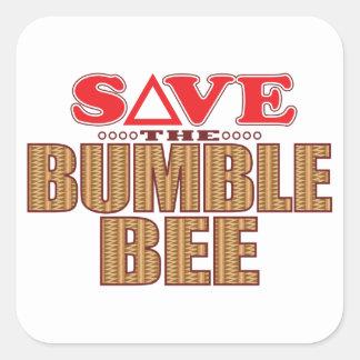 Manosee la reserva de la abeja pegatina cuadrada