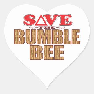Manosee la reserva de la abeja pegatina en forma de corazón