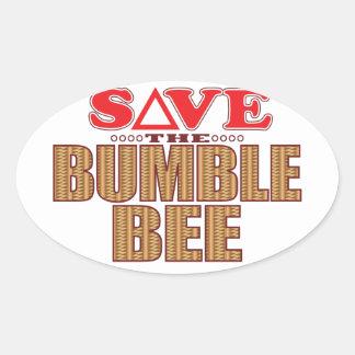 Manosee la reserva de la abeja pegatina ovalada
