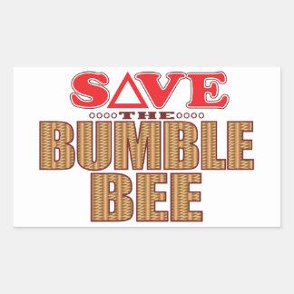 Manosee la reserva de la abeja pegatina rectangular