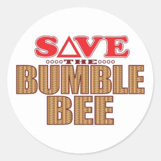 Manosee la reserva de la abeja pegatina redonda