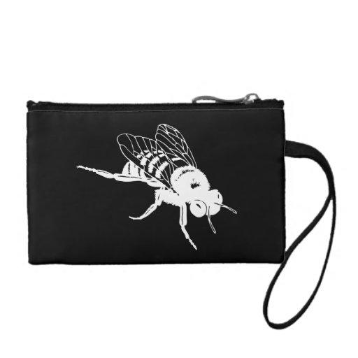 Manosee la silueta de la abeja