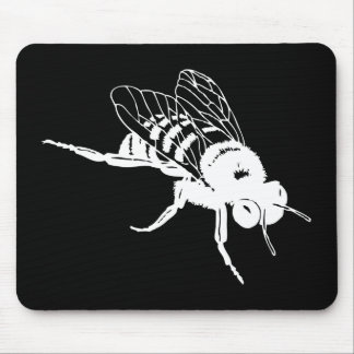 Manosee la silueta de la abeja alfombrilla de ratón