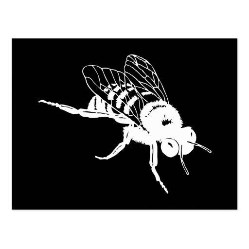 Manosee la silueta de la abeja postal