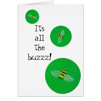 Manosee la tarjeta de cumpleaños de la abeja
