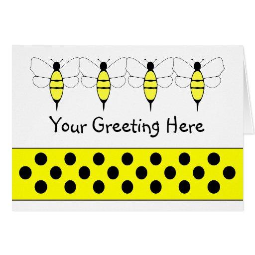 Manosee la tarjeta de felicitación de la abeja