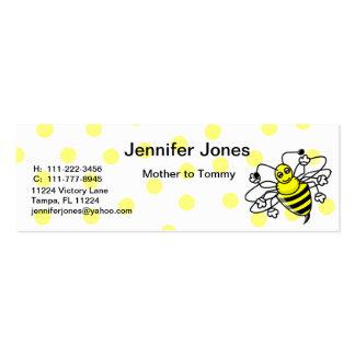 Manosee la tarjeta de visita de la abeja