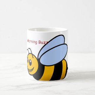 Manosee la taza de café de la abeja