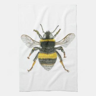 Manosee la toalla de cocina de la abeja