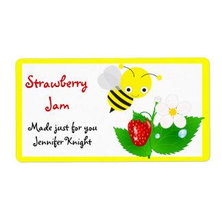 Manosee las etiquetas de la comida de la abeja etiqueta de envío